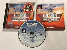 PLAYSTATION 1 PS1 PSone GIOCO TOP GUN Fuoco a volontà! + SCATOLA instructons COMPLETO PAL