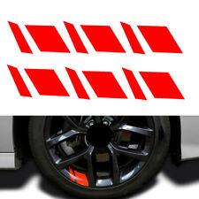 6x Reflective Car Wheel Rim Vinyl Decal Sticker Car Red Accessories For 16 21 Fits 2012 Malibu