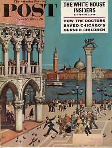 1961 Saturday Evening Post June 10 - Adolph Eichmann Trial; Venice; Sea Turtles