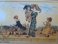 3 Kate Greenaway 1970's English Art on wood Pictures Glaced, CAMILLE