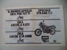 advertising Pubblicità 1986 MOTO APRILIA AS 125 R/ETX 350/TUAREG 50