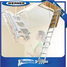 Werner Attic Ladder 3.18m - 3.66m Aluminium Ceiling AH2512AZ