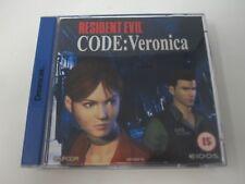 Resident Evil Code Veronica-Sega Dreamcast (PAL) Juego en Caja Completa