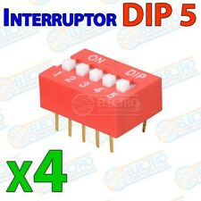 Interruptor DIP switch 5 canal DIP5 on off para PCB 5p multiswitch - Lote 4 unid