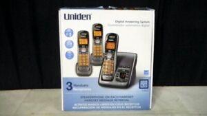Uniden D1484-3 Dual Handsets Cordless Phone Dect 6.0