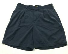 Tommy Hilfiger Golf Short Taille 34 Bleu Kaki Plissé Avant Adulte Hommes 90s