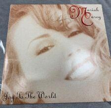 "Mariah Carey LP JOY TO THE WORLD 12"" RED PROMO SIGNED BY MARIAH & DAVID MORALES"