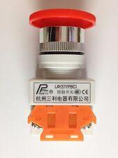 Parada de emergencia pulsador | LAY37 | Rojo Seta Cabeza Interruptor 22 mm