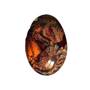Lava Dragon Egg Transparent Crystal Dinosaur Egg Resin Sculpture Souvenir Gift!!
