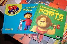 2 livres d enfant sid le petit scientifique     les animaux les plus forts