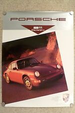 1989 Porsche 911 Carrera 4 Coupe Showroom Advertising Sales Poster RARE! Awesome