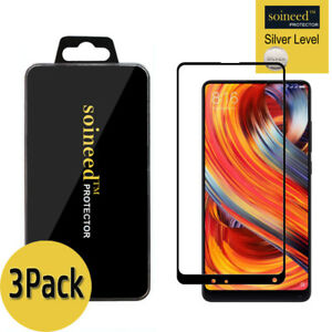 [3-Pack] SOINEED Xiaomi Mi Mix 2/ 2S FULL COVER Tempered Glass Screen Protector