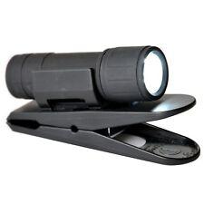 HR / RICHTER soft touch Hand Taschenlampe LED mit Klemmhalter Klammer Halterung