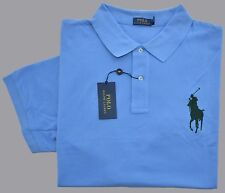 New 4XLT 4XL TALL POLO RALPH LAUREN Men short sleeve Big Pony shirt blue 4XT top