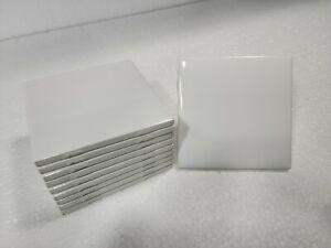 Vintage White 4 in Ceramic Tile 4x4 Square Color 0100 Daltile 10 Pieces 1 sq ft