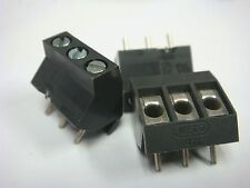 (10) EURO STYLE 3 POS 5mm 26-12 AWG WIRE PROTECTOR TERMINAL BLOCK WECO 974-DS/03