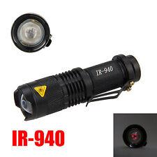 IR 940nm 5W Visión Nocturna Infrarroja Zoomable Flashlight Linterna AA Antorcha