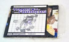 Transformers Original G1 1985 Thrust Sealed Sticker Instruction Packet