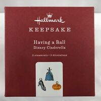Hallmark Keepsake Ornament ~ Having a Ball Disney Cinderella 3 ornaments