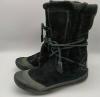 $129.95 Cushe IT Boot Cuff Women's Black Suede Leather Snow Winter Boots Size 6