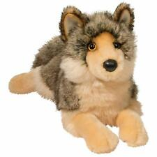 "Douglas Alder 14"" long Wolf plush Stuffed Animal cuddle toy"