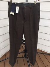 Nautica Men's  Polyester Blend Brown 80% Wool Pants Bottoms size (34) inseam(30)