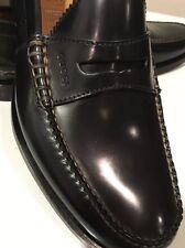 New Gucci Black Camaleon Leather Penny Loafer Shoes UK Sz 9/ US SZ 10 ❤️