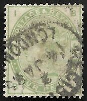1884 QV SG192 4d Dull Green BI Fine Used CV £210