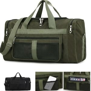 Mens Large Travel Bag Sport Gym Duffle Holdall Bag Shoulder Bag Holiday Tote New