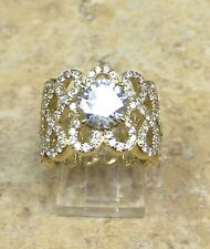 JEAN DOUSSET 3.57CT ABSOLUTE LOOP DESIGN BAND VERMEIL RING SIZE 6 HSN $149