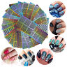 24 Sheets 3D Design Colorful Nail Art Sticker Tip Decal Hollow Manicure Stickers