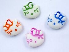 A Pack of 100 Acrylic Kitty  Pendants / Findings  J1023