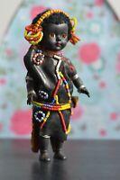 Fabulous VINTAGE Doll Of Beaded Kenyan Tribe Man - 19cm Tall