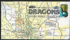 Map Columbus Ohio cover 2018 black Dragons stamp w/ first-day cancel ver1