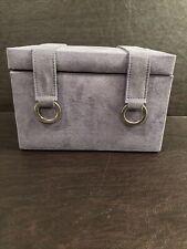 Wolf Designs Felt Cloth Purple Jewelry Box - Drawers- Mirror