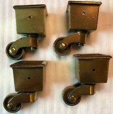 "Keeler Brass Co Square Cut Casters 7/8""(inside) Wheel 3/4"" 2"" Overall Qty4"