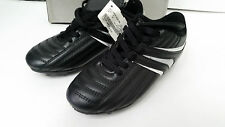 Youth Boys High Five Soccer Shoes Cleats Size 2.5 Black/Silver