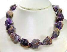 Hermosa piedras preciosas cadena de amatista roh-piedras en forma de grandes pepitas