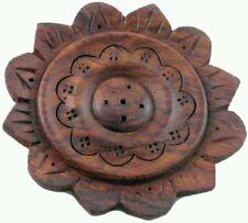 Flower Shaped Plate Ash Catcher Incense Holder Brown Incense Sticks NEW incense