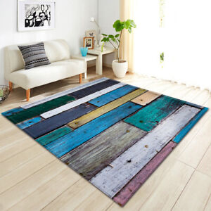 Rugs Anti-Slip SHAGGY RUG Soft Carpet Mat Living Room Floor Bedroom 3D Printed