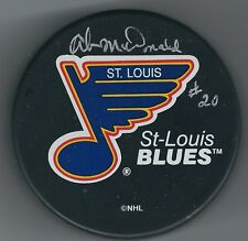 Autographed AB MCDONALD St Louis Blues Hockey Puck - w / COA