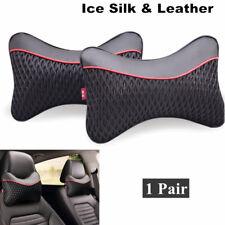 2xCar Seat Neck Cushion Pillow Headrest Soft (PU+Ice Silk) neck pillows Rest