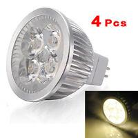 4X MR16 4W 4 LED Blanc chaud economie d'energie Spot Lampe ampoule 12v lumi J9I7