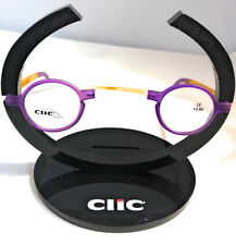 CliC Magnetic Connection Reading Glasses Limited Flex Round Purple/Yellow