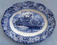 Staffordshire Liberty Blue Large 14 Inch Platter England