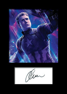 CHRIS EVANS #4 A5 Signed Mounted Photo Print - FREE DELIVERY