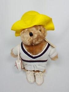"Vintage Paddington Bear Stuffed Plush with Tag Tennis Eden Toys London Peru 13"""