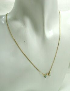 Very Pretty 9 carat Gold Opal Dropper Necklace