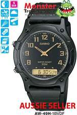 AUSSIE SELLER CASIO DUALTIME STOP WATCH AW49 AW49H AW-49H-1B 12 MTH WARRANTY