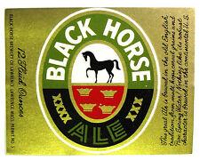 Black Horse Brewery BLACK HORSE ALE beer label MA 12oz  PERMIT NO. 5 Mini Label